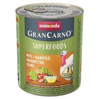 GRANCARNO Superfoods krůta,mangold,šípky,lněný olej 800 g pro psy