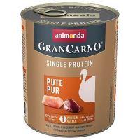 GRANCARNO Single Protein 800g čisté krůtí, konzerva pro psy