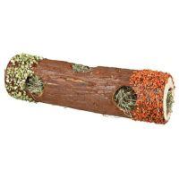 Trixie Dřevěný tunel se senem a květy ibišku, mrkví a hráškem 9 x 30 cm 35g