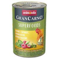 GRANCARNO Superfoods kuře,špenát,maliny,dýňová semínka 400 g pro psy